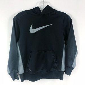 Nike | Boys Therma-Fit Black & Gray Logo Hoodie
